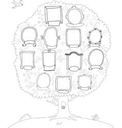 Family tree genealogical tree vector image