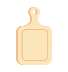 Cutting cooking board wooden kitchen toolv ector vector image