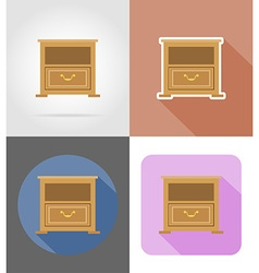 Furniture flat icons 32 vector