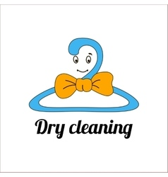 An image of a cartoon laundry symbol vector image vector image