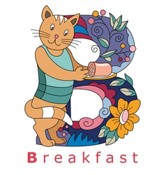B breakfast vector image