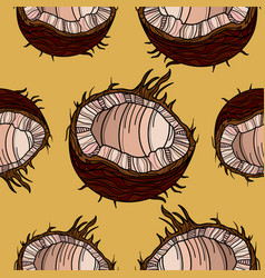 beautiful seamless pattern with coconut vector image vector image