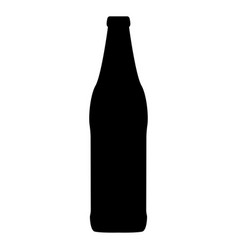 Beer bottle black color icon vector