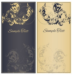Decorative frame or invitation cards vector