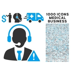 Emergency service icon with 1000 medical business vector