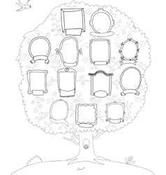 Family tree genealogical tree vector