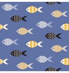 fish seamless pattern vector image