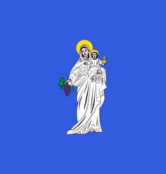 flag of beaune in cote-dor of burgundy france vector image