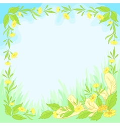 flowers leaves and feathers vector image vector image