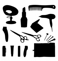 Hair equipment vector