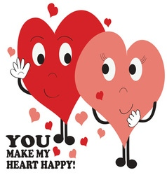 Heart Happy vector image