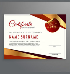 Luxury certificate template design with elegant vector