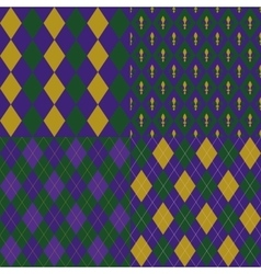 Mardy gras backgrounds vector image vector image
