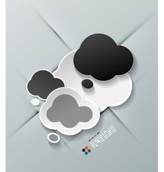 Paper cloud modern design vector image