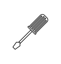 screwdriver construction tool vector image vector image