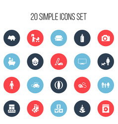 Set of 20 editable kin icons includes symbols vector