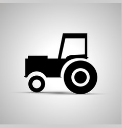 tractor silhouette side view simple black icon vector image