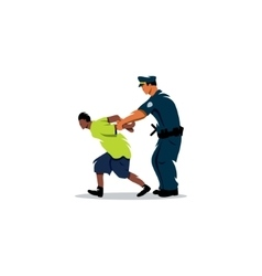 White police arrested a black man Justice in vector image vector image