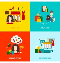 Woman Shopping Flat vector image