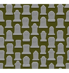 Rip seamless pattern old gravestone ornament vector