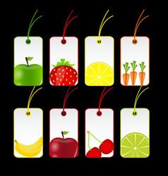 fresh fruits labels vector image