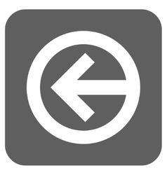 Direction left flat squared icon vector