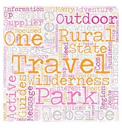 Rural wilderness travel websites are hard to find vector