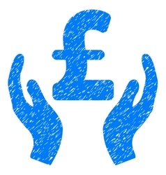 Pound care hands grainy texture icon vector