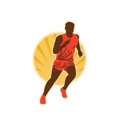 marathon runner running vector image