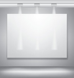 Blank billboard canvas with lighting vector