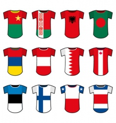 National soccer uniforms vector