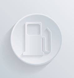 Circle icon with a shadow gas station vector
