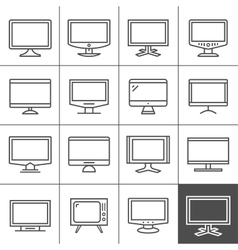 Display devices vector image