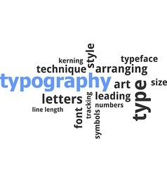 Word cloud typography vector