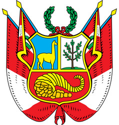 Peru coat-of-arms vector