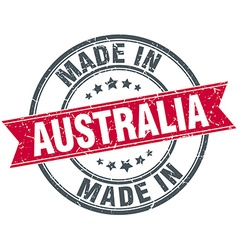 made in Australia red round vintage stamp vector image