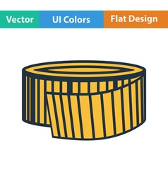 Flat design icon of measure tape vector