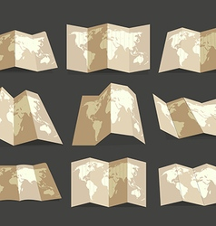 World map collection design elements vector