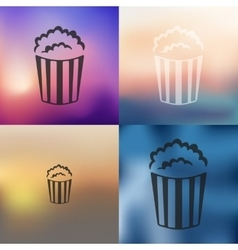 popcorn icon on blurred background vector image