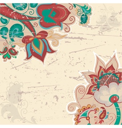 Background with pattern in Russian style vector image