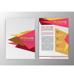 Abstract pink and yellow Triangle design Brochure vector image vector image