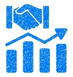 Acquisition hands graph trend grainy texture icon vector