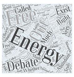 An energy alternative free energy word cloud vector