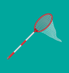 butterfly net with plastic handle vector image