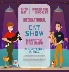 Cat show announcement poster vector