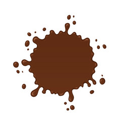 chocolate splash blot with drops vector image vector image