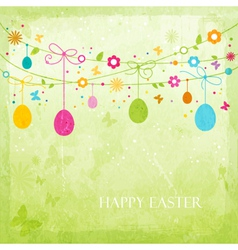 Colorful Happy Easter design vector image vector image