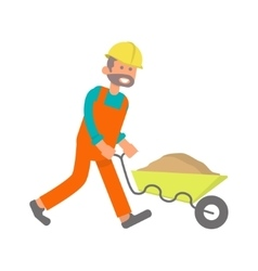 Construction worker laborer vector
