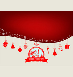 design with silhouette of santa claus vector image