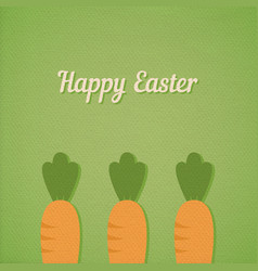 easter carrots vector image vector image